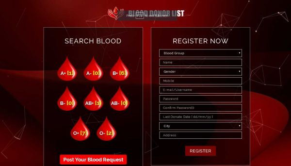 Blood Donor List