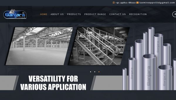 BANJARA PIPES, website company design in raipur