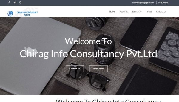 Chirag Info Consultancy Pvt.Ltd, website company design in raipur