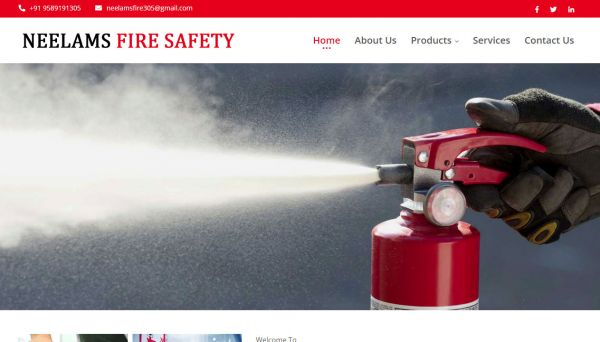 Neelams Fire Safety , website company design in raipur