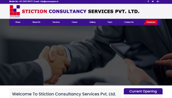 Stiction Consultancy Services Pvt. Ltd. , website company design in raipur
